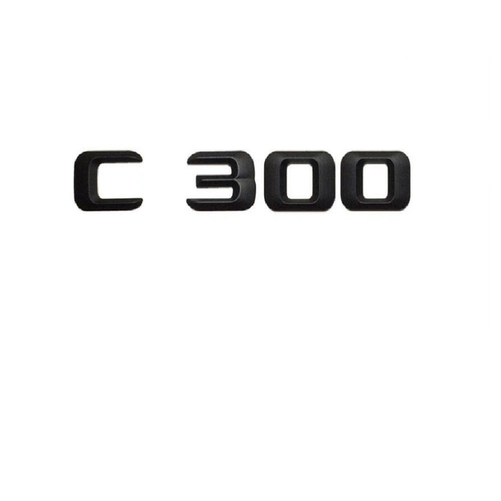 "Letra trungu të pasme të makinave Matt Black ""C 300"" Sticker Letra Embleme Embleme Decal për Mercedes Benz C Class C300"
