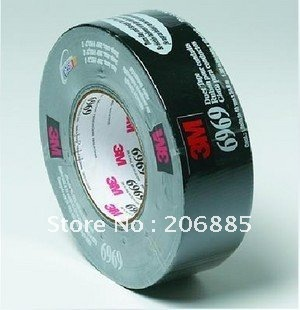 100% Original 3M 6969 Duct Tapes/black and silver color/48mm*54.8M