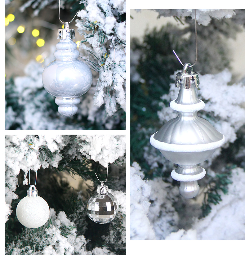 11 inhoo 80pcsset Christmas Tree Ball Ornaments Gift Polystyrene Balls Xmas Party Hanging Ball Merry Christmas Decor for Home 2019