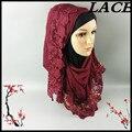 S20 MELHOR material novo lace muçulmano hijab, xaile, lenço, 180*90 cm 10 pcs 1 lote, pode escolher as cores