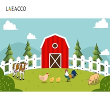 Laeacco Cartoon Farm Animals Poultry Backdrop Child Portrait Photography Background Photographic Backdrops For Photo Studio