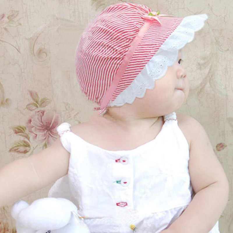 Pasgeboren Baby Hoed Lente Zomer Peuter Zonnekap Bloem Strik Prinses Baby Meisje Palace Hoed