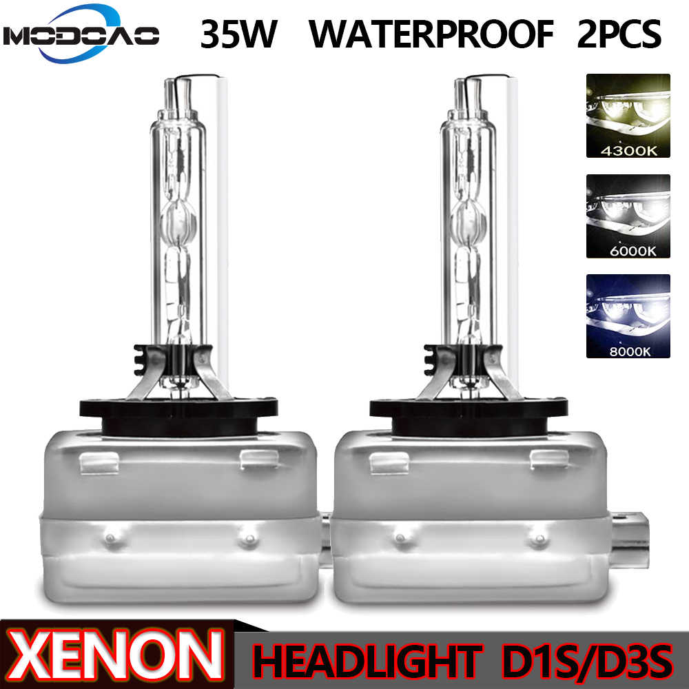 1Pair Xenon Car Headlight D1S D1C 35W HID Bulbs D3S D3C Metal Bracket Protection for Car Head Lamp 4300K 6000K 8000K Universal