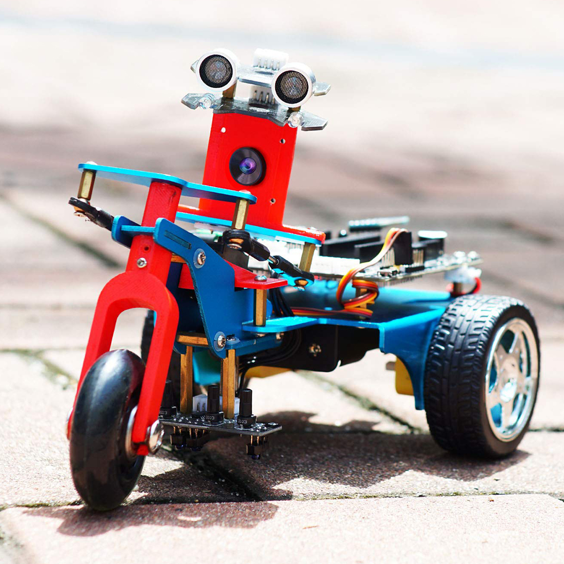 TrikeBot Smart Robot Car Kit Programmable Toys Learning With HD Camera DIY Robot Kit With Raspberry 4B ( 1G/2G/4G Memory )
