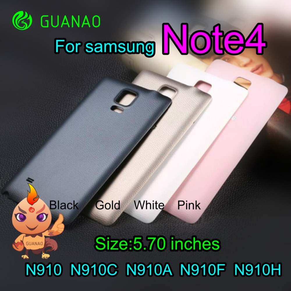 Original Back Battery Door Housing For Samsung Galaxy Note4 Note 4 N9100 N910 Battery Back Cover - Gold Black White Gold Pink
