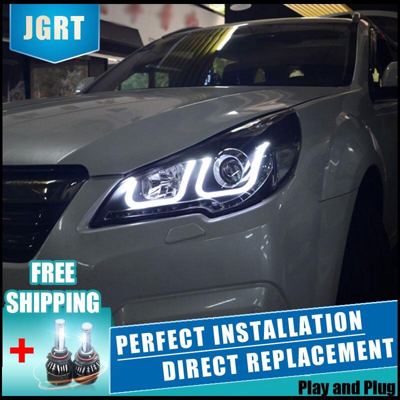 2 pcs A MENÉ Des Phares Pour Subaru Outback 2010-2013 Voiture LED Lumières Double Xénon Lentille Accessoires De Voiture Feux lumières