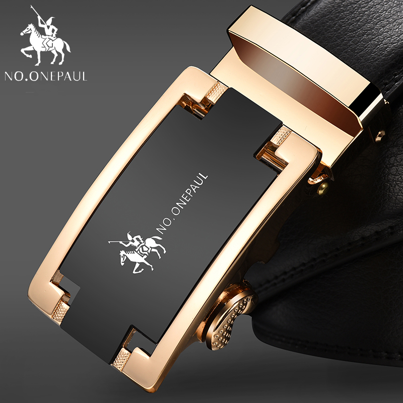 NO.ONEPAUL Belt Car Graphics Long Length Cow Genuine Leather Belts For Men Good Quality Male Brand Automatic Metal Buckle ZDC12