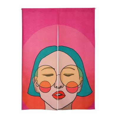 Do It Yourself Taiwan Japan style Chinese red face girl cartoon door ...