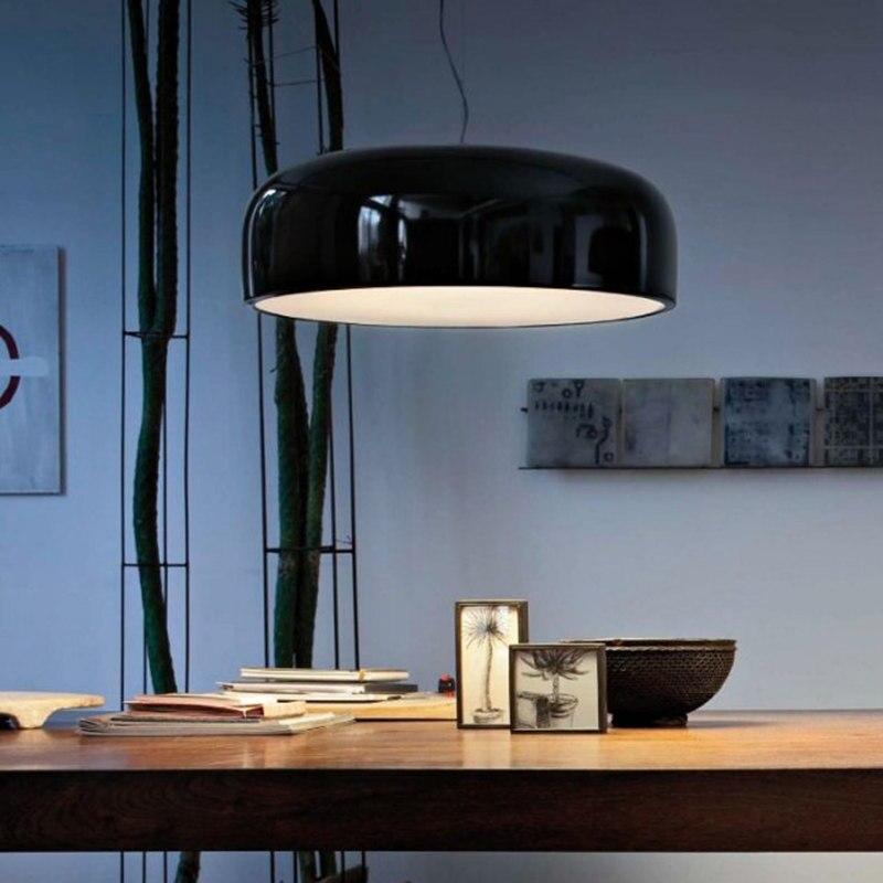 Smithfield abat-jour rond en aluminium suspension lumières noir blanc Droplight E27 110 V ~ 220 V pour décor suspension lampe luminaire