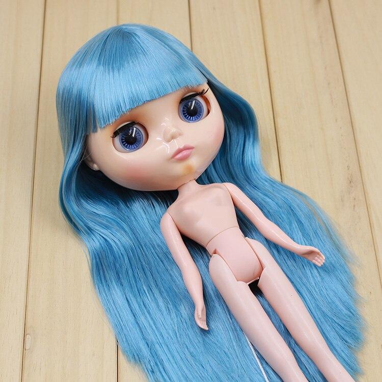 Beaukiss Моды DIY Ню Блайт Кукла Синий Длинные Волосы С Челкой Кукла Игрушки Подарки