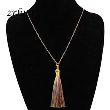 ZRHUA Bohemia Feather Tassel Statement Necklace Women Elegant Long Hollow Drop Rope Chain Necklace Clothes Pendant Factory Price(China)