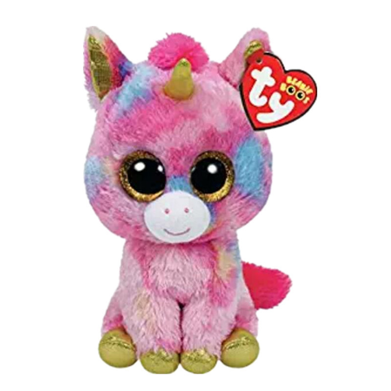 6 15cm Ty Beanie Boos Original Big Eyes Plush Toy Doll Child Brithday White Unicorn TY Baby For Kids Gifts S164