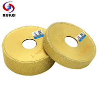 RIJILEI 74mm Brazing Diamonds Marble Grinding wheel Angle Grinder hand profile wheel granite Flat edge grinding discs MX49|angle grinder|angle grinder grindersangle grinde -