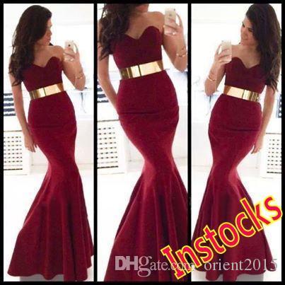 Red Velvet Mermaid Prom Dresses