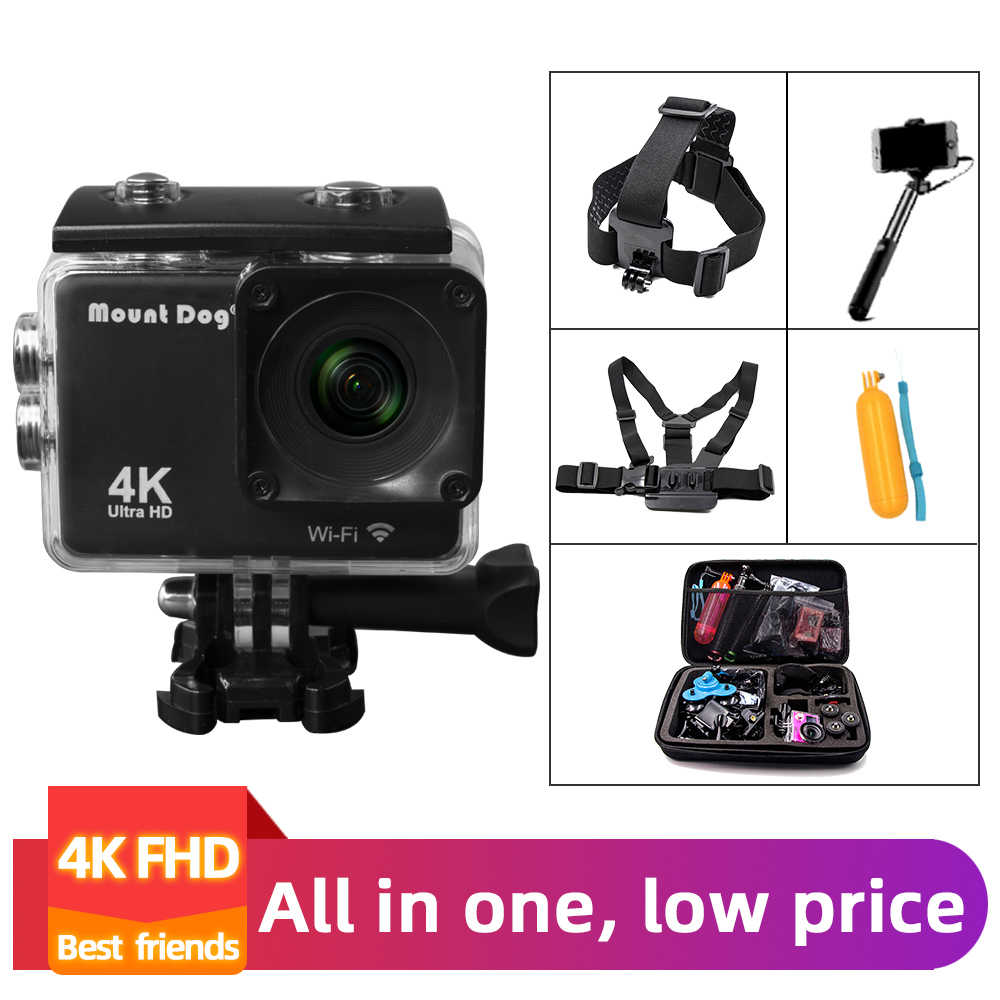 Go Pro Go PRO Aksesoris Ultra HD 4K Olahraga Action Video Camera Wifi 30fps 170D Tahan Air Cam Kepala Dada Tali Sabuk kamera Perekam