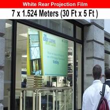 7x1,524 метров белая голографическая пленка экрана для большого магазина окна задней проекции видео рекламы