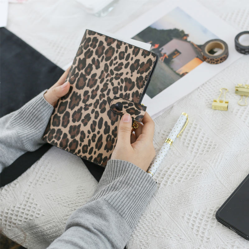 Image 3 - Lovedoki A6 Creative 15mm Ring Size Leopard Diary Binder Notebook Portable Planner Book  Stationery-in Notebooks from Office & School Supplies