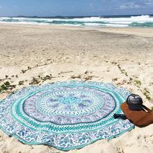 Elefante indio Mandala Ronda Toalla de Playa Bohemio Gitano Hippy Tapiz Mantel de Poliéster Playa Tiro