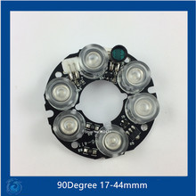 Infrared 6 IR LED board 90Degree for CCTV cameras night vision  DC12V power supply for 50size small housing.