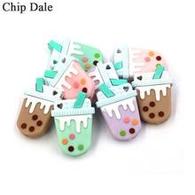 Chip Dale 5Pc Mini Silicone Beads Milk Tea Bite Chew Bead Food Grade DIY Making Teething Teether Pacifier Chain