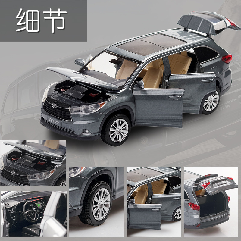 1 32 alloy car model High lander SUV children toy car simulation sound and light pull back car boy toy ornaments collection gift in Diecasts Toy Vehicles from Toys Hobbies