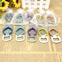 (50pcs/lot)FREE SHIPPING+Customized Wedding Favors Flip Flop Bottle Opener Printing LOGO Mix Colors Available Party Giveaways цены