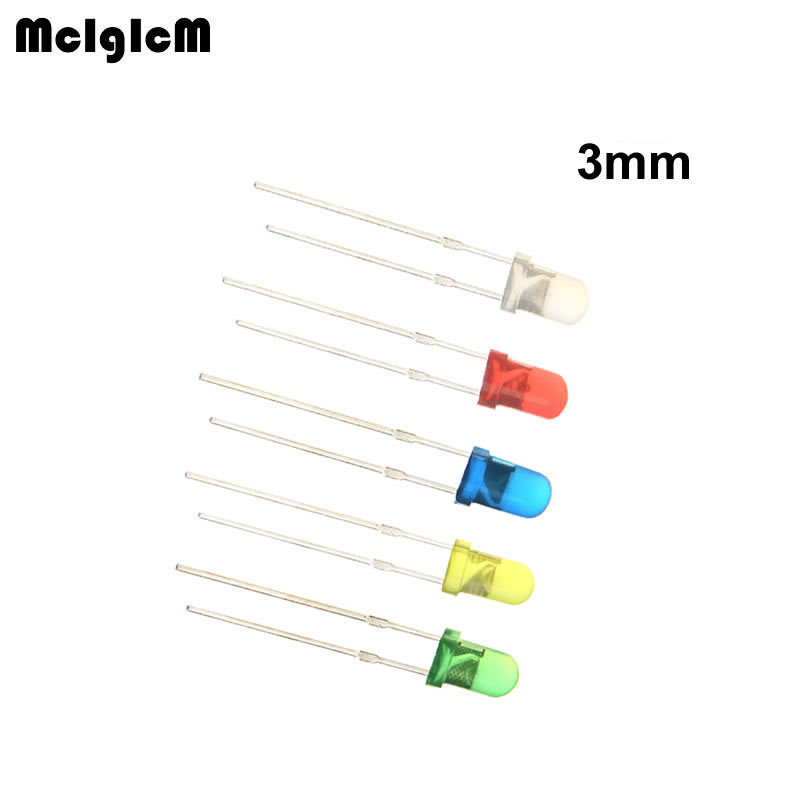MCIGICM 10000pcs 3mm LED Light White Yellow Red Green Blue Assorted Kit DIY LEDs Set electronic
