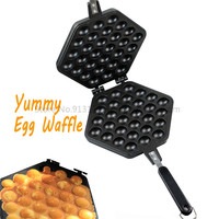 Egg Waffle Pan DIY Tool Chinese Egg Puff Cooking Mold Household Non stick Cooking Surface Free Shipping