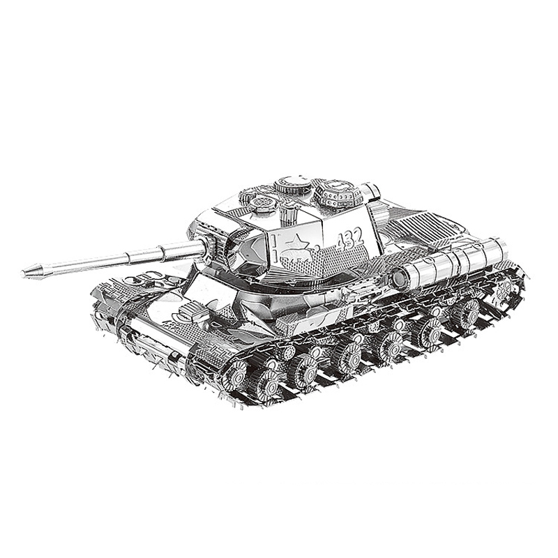 Nanyuan 3D Metal Puzzle JS 2 tank Military weapons Model DIY Laser Cut Assemble Jigsaw Toys