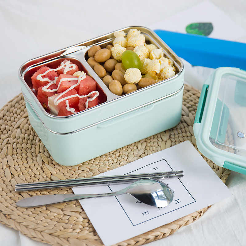TUUTH Cartoon Lunch Box  Stainless Steel Double Layer Food Container Portable for Kids Kids Picnic School Bento Box