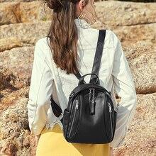 Fashion Womens Waterproof  Backpack Black Bags Woman Bagpack 2019 New Bookbags For College Students School Bag Girls Backpacks