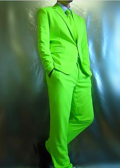 Rojo verde azul traje (chaqueta + pantalones) de Neón conjunto chaqueta traje multicolor set dj traje para bailarín del cantante performance show bar