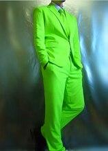 Красный зеленый синий костюм (куртка + брюки) Неон blazer набор разноцветный костюм комплект костюм dj певица танцор производительности шоу бар