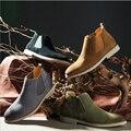 Confortável e breathab Chelsea Botas Sapatos Feitos À Mão dos homens All-matching Kanye West Botas Primavera verão outono inverno