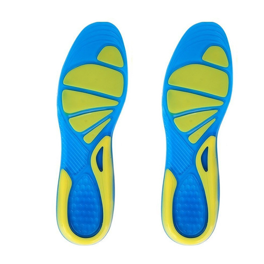 Cushion Foot Care Shoe Pad Orthopedic Insole Military Walking Unisex Sport TPE Insert Shock Absorption Running Stable Non-Slip