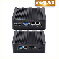 2 Lan Ports PC Computer Desktop 4G Ram 32G Msata SSD 2GHz Quad Core J1900 CPU