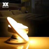 UFO Intelligent Motion Sensor LED Night Light 360 Degree Rotation Induction Wall Lamp Children Bedroom Corridor Wardrobe Lights