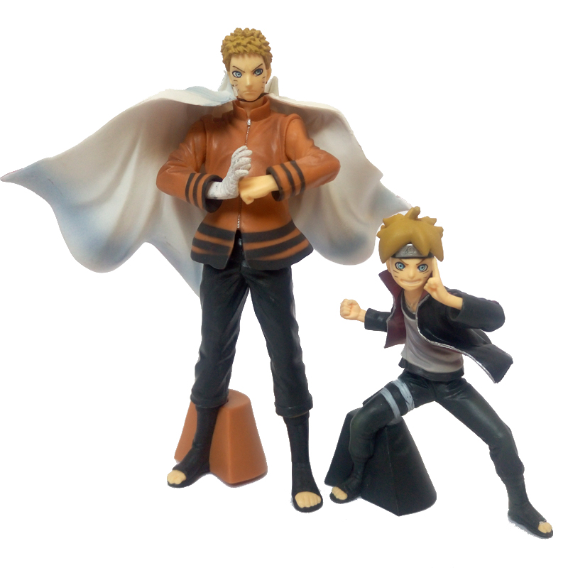 2pcs PVC Naruto Action figure Anime Boruto toys dolls action figures Model toy Kids Toys Collection Gifts Desktop accessories 21cm naruto hatake kakashi pvc action figure the dark kakashi toy naruto figure toys furnishing articles gifts x231