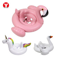 2019 Flamingo Swimming Float for Kids Toys Swan Inflatable Baby Float Swimming Ring Unicorn Inflatable Water Toys Ring for Kid(China)