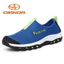 QIANDA Summer Mountain Hiking Shoes Men Breathable Outdoor Man Sneakers Slip-on Mesh Camping Sandals Trekking Water