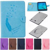 For Samsung Galaxy Tab E 9 6 T560 SM T561 Retro Tablet Case Folding Flip Wallet