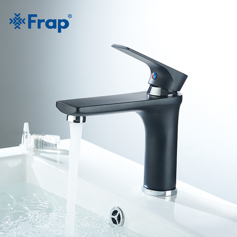 Frap Single Handle Bathroom Basin Faucets Cold & Hot Mixer Basin Sink Tap Black Water Kitchen Faucet Bathroom Accessories Y10109