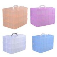 30 Grades De Plástico Transparente Caixa De Armazenamento De Brinquedos Anéis de Exposição Dos Artigos de Papelaria Da Medicina Titular Container Organizador Makeup Caso Ofício