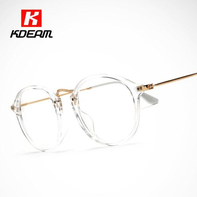 ac432ce548a3ec Classic Vintage Transparent Glasses Round Unisex Nerd Eyeglasses Frame  Clear Glasses lunette de vue de grau With Box