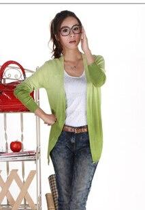 50 шт./лот Federal Express быстро Градиент Карамельный цвет свитер; кардиган; пальто с отложным воротником полной Длинные рукава трикотажные женские сумки, пальто - Цвет: 6