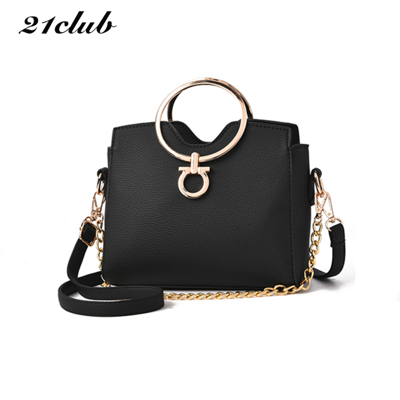 цена на 2017 casual chains metal handle small handbags hotsale laides purse famous brand women evening clutch messenger shoulder bags