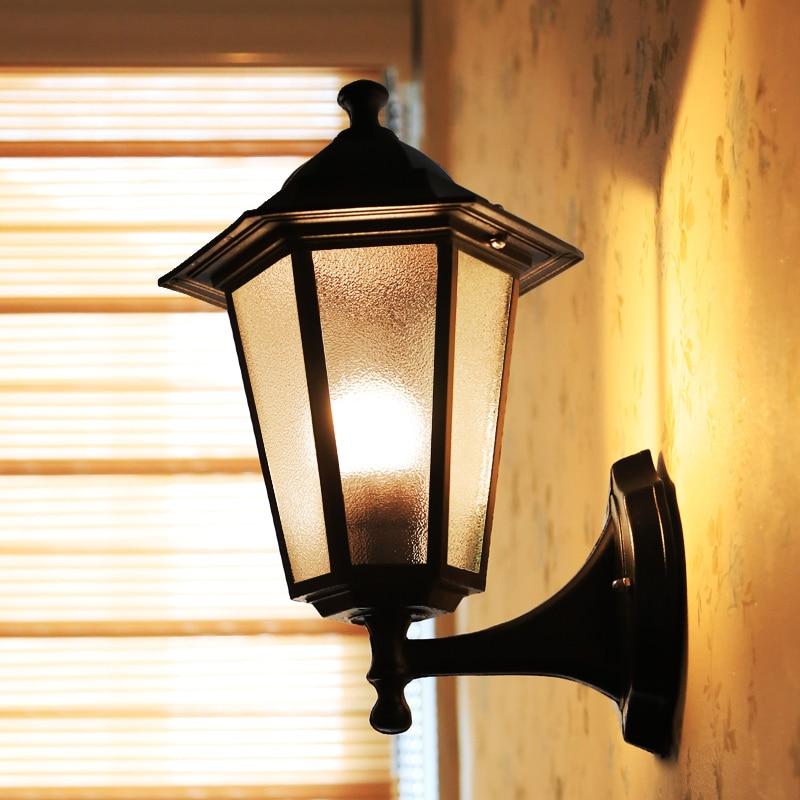 European style retro wall lamp E27 waterproof aisle balcony garden lamp restaurant decorative lights outdoor lighting european style outdoor wall lamp retro porch light balcony corridor aisle garden restaurant dining room waterproof lighting