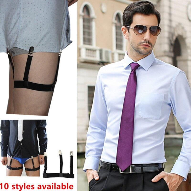 0488f69816597 Mens Braces camisa ligas Caballero pierna muslo Liga elástico cinturón tirantes  camisa Styas en Hombres de Accesorios de ropa en AliExpress.com