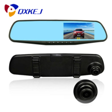 Dual-Lens HD DVR Car Data Recorder 1080P Rearview Mirror With 4.3 inch LED Display Screen With Night Vision, Motion Detection цена