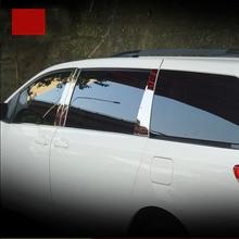 lsrtw2017 car-styling accessories car window middle post trims for toyota sienna 2011 2012 2012 2014 2015 2016 2017 2018 lsrtw2017 car styling car window rainshield door visor for honda odyssey 2015 2016 2017 2018 window trims